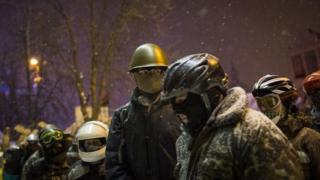 Protestors in Ukraine