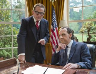 Harry Shearer with Henry Goodman in Nixon's The One