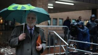 Dave Lee Travis arriving at court on 29 January
