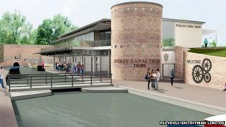The visitor centre will tell the history of the canal tunnels and mines
