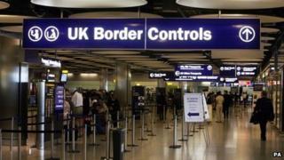 Queues at UK border controls
