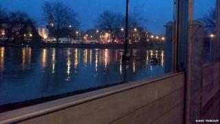 Flood defences in Frankwell, Shrewsbury