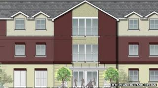 Architects plans for care home in Newtown
