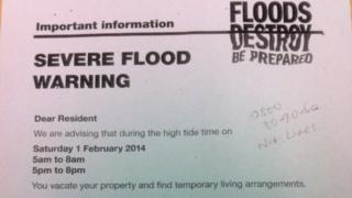Evacuation advisory letter