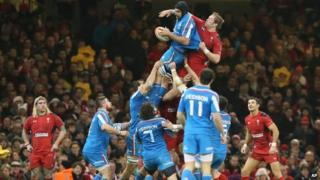 Wales and Italy playing in Six Nations tournament