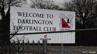 Sign at Darlington Arena 2012