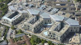 Aerial view of Southmead Hospital