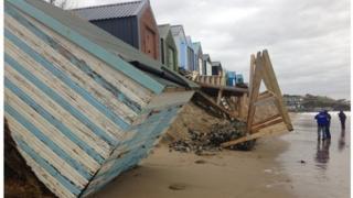 Beach huts in Abersoch