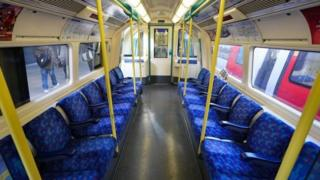 Empty Tube train