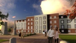 Artist's impression of the 33 apartments in Flint