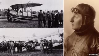 Ding in his plane and portrait