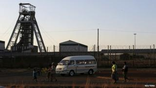 The Doornkop mine west of Johannesburg (file image)