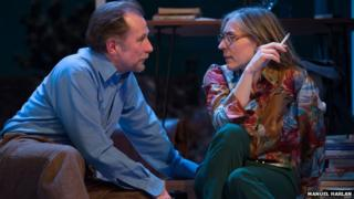 Danny Webb (He) and Saskia Reeves (She) in The Mistress Contract