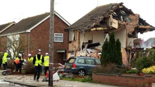 Emergency service at Cloes Lane gas explosion