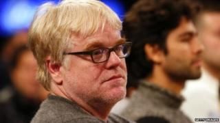 Actor Philip Seymour Hoffman at a professional basketball game in New York City on December 25, 2013.