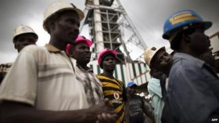 Miners at Harmony Gold's Doornkop mine near Johannesburg, South Africa - 6 February 2014