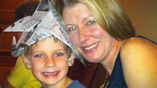 Laura Trevelyan with her son, Ben