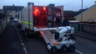 Bomb disposal robot at Lurgan alert