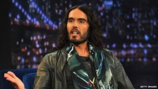 Russell Brand appears on Late Night With Jimmy Fallon on February 4, 2013.