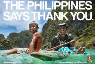 One of the posters used in the #PHthankyou campaign