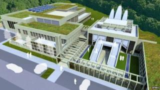 An artist's impression of the Hindu Temple to be built in Northampton