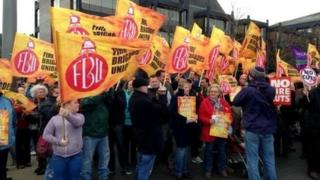 Firefighter rally in Middlesbrough
