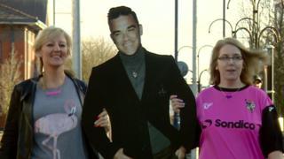 Robbie fans in Stoke-on-Trent