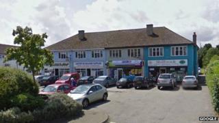 Parade of shops in Burford Road, Carterton