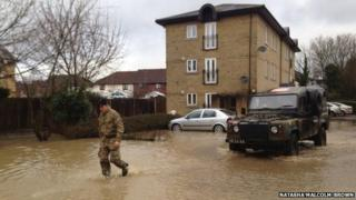 soldiers helping in Saffron Walden