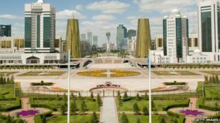 Astana skyline in Kazakhstan