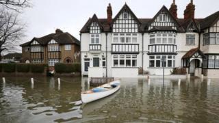 Flooding in Datchet