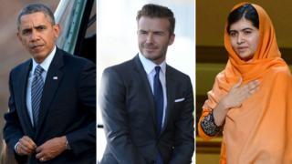 Obama, Beckham, Malala