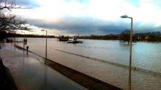 Racecourse under water