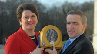 Arlene Foster with Declan O'Mahoney,