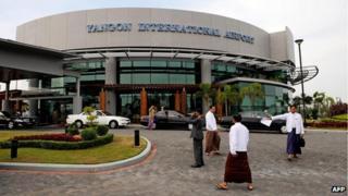 The main terminal building at Yangon International Airport