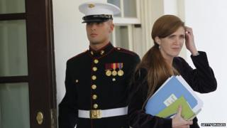 Samantha Power leaving the White House