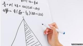 Maths on white board