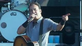 Bruce Springsteen at concert in Belfast