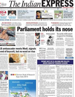 The Indian Express front-page