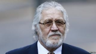 Dave Lee Travis arriving at Southwark Crown Court on February 13