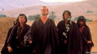 Screen shot from Life of Brian - anti-Roman rebels