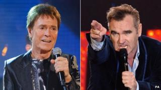 Sir Cliff Richard and Morrissey