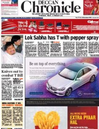 Deccan Chronicle front-page