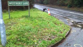 Scene of Purley Rise cyclist fatalities