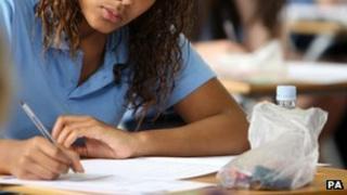 Pupil sitting exam