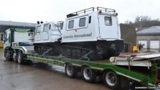All-Terrain vehicle arrives in Somerset to help Oath residents stranded by rising floodwater