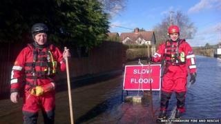West Yorkshire fire crews helping in the south