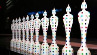 2013 Brit Awards trophies