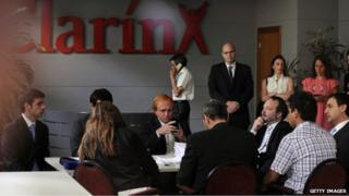 Meeting at Clarin headquarters in Buenos Aires (2012)
