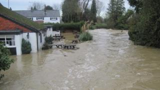 Flooding in East Peckham in December 2013